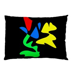Colorful Abstraction Pillow Case (two Sides) by Valentinaart