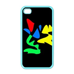 Colorful Abstraction Apple Iphone 4 Case (color) by Valentinaart