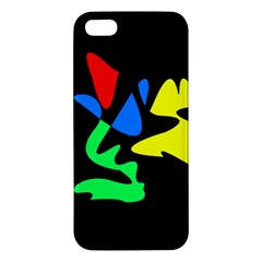 Colorful Abstraction Apple Iphone 5 Premium Hardshell Case by Valentinaart