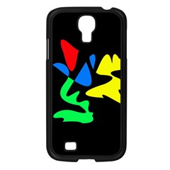 Colorful Abstraction Samsung Galaxy S4 I9500/ I9505 Case (black) by Valentinaart