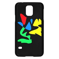 Colorful Abstraction Samsung Galaxy S5 Case (black) by Valentinaart
