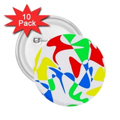 Colorful Abstraction 2 25  Buttons (10 Pack)