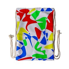 Colorful Abstraction Drawstring Bag (small) by Valentinaart