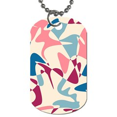 Blue, Pink And Purple Pattern Dog Tag (two Sides) by Valentinaart
