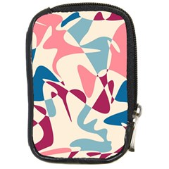 Blue, Pink And Purple Pattern Compact Camera Cases by Valentinaart