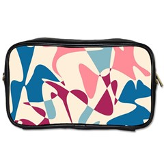 Blue, Pink And Purple Pattern Toiletries Bags
