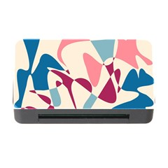 Blue, Pink And Purple Pattern Memory Card Reader With Cf by Valentinaart
