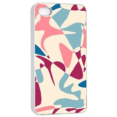 Blue, Pink And Purple Pattern Apple Iphone 4/4s Seamless Case (white) by Valentinaart