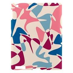 Blue, Pink And Purple Pattern Apple Ipad 3/4 Hardshell Case by Valentinaart
