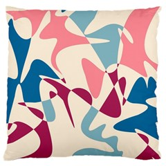 Blue, Pink And Purple Pattern Large Cushion Case (two Sides) by Valentinaart