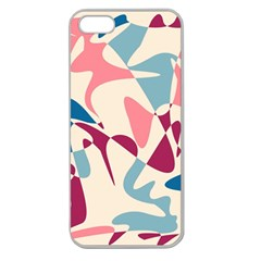 Blue, Pink And Purple Pattern Apple Seamless Iphone 5 Case (clear) by Valentinaart