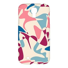 Blue, Pink And Purple Pattern Samsung Galaxy S4 I9500/i9505 Hardshell Case by Valentinaart