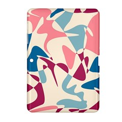 Blue, Pink And Purple Pattern Samsung Galaxy Tab 2 (10 1 ) P5100 Hardshell Case  by Valentinaart