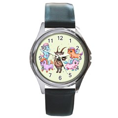 Evil Is Magic Round Metal Watch