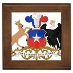 Coat Of Arms Of Chile  Framed Tiles Front
