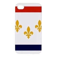 Flag Of New Orleans  Apple Iphone 4/4s Premium Hardshell Case by abbeyz71