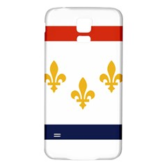 Flag Of New Orleans  Samsung Galaxy S5 Back Case (white) by abbeyz71