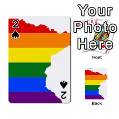 Lgbt Flag Map Of Minnesota  Playing Cards 54 Designs