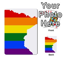 Lgbt Flag Map Of Minnesota  Multi Purpose Cards (rectangle)  by abbeyz71
