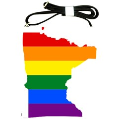 Lgbt Flag Map Of Minnesota  Shoulder Sling Bags by abbeyz71