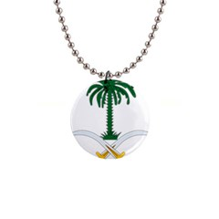 Emblem Of Saudi Arabia  Button Necklaces