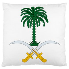 Emblem Of Saudi Arabia  Large Cushion Case (two Sides)