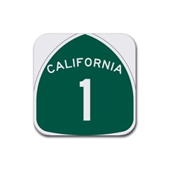 California 1 State Highway   Pch Rubber Coaster (square)