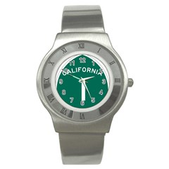 California 1 State Highway   Pch Stainless Steel Watch