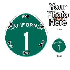 California 1 State Highway   Pch Playing Cards 54 (round)  by abbeyz71