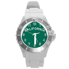 California 1 State Highway   Pch Round Plastic Sport Watch (l)