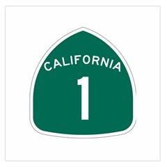 California 1 State Highway   Pch Large Satin Scarf (square)