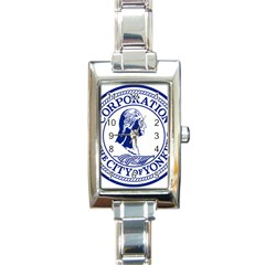 Seal Of Yonkers, New York  Rectangle Italian Charm Watch