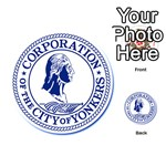 Seal Of Yonkers, New York  Playing Cards 54 (Round)  Back