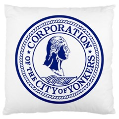 Seal Of Yonkers, New York  Large Cushion Case (one Side)