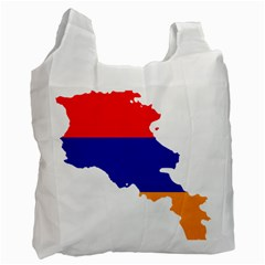 Flag Map Of Armenia  Recycle Bag (one Side) by abbeyz71