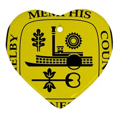 Seal Of Memphis  Ornament (heart)  by abbeyz71
