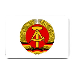National Emblem Of East Germany  Small Doormat  by abbeyz71