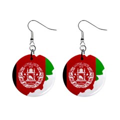 Flag Map Of Afghanistan Mini Button Earrings