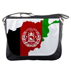 Flag Map Of Afghanistan Messenger Bags