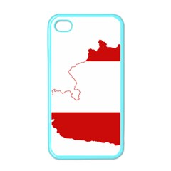 Flag Map Of Austria Apple Iphone 4 Case (color)
