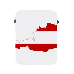 Flag Map Of Austria Apple Ipad 2/3/4 Protective Soft Cases