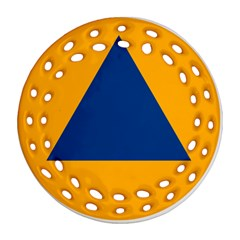 International Sign Of Civil Defense Roundel Ornament (round Filigree)  by abbeyz71
