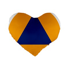 International Sign Of Civil Defense Roundel Standard 16  Premium Flano Heart Shape Cushions by abbeyz71
