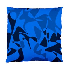 Blue Pattern Standard Cushion Case (two Sides) by Valentinaart