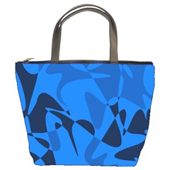 Blue Pattern Bucket Bags
