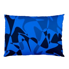 Blue Pattern Pillow Case by Valentinaart
