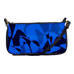 Blue Pattern Shoulder Clutch Bags by Valentinaart