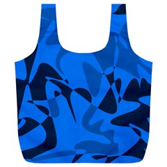 Blue Pattern Full Print Recycle Bags (l)  by Valentinaart