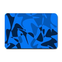 Blue Pattern Small Doormat  by Valentinaart