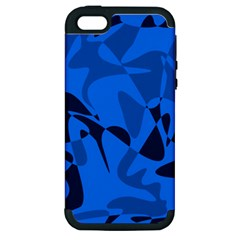 Blue Pattern Apple Iphone 5 Hardshell Case (pc+silicone) by Valentinaart